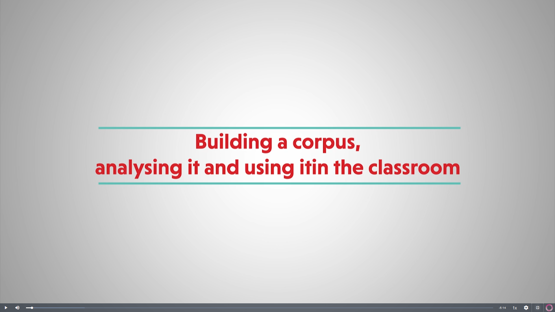 Building a corpus, analysing it and using it in the classroom