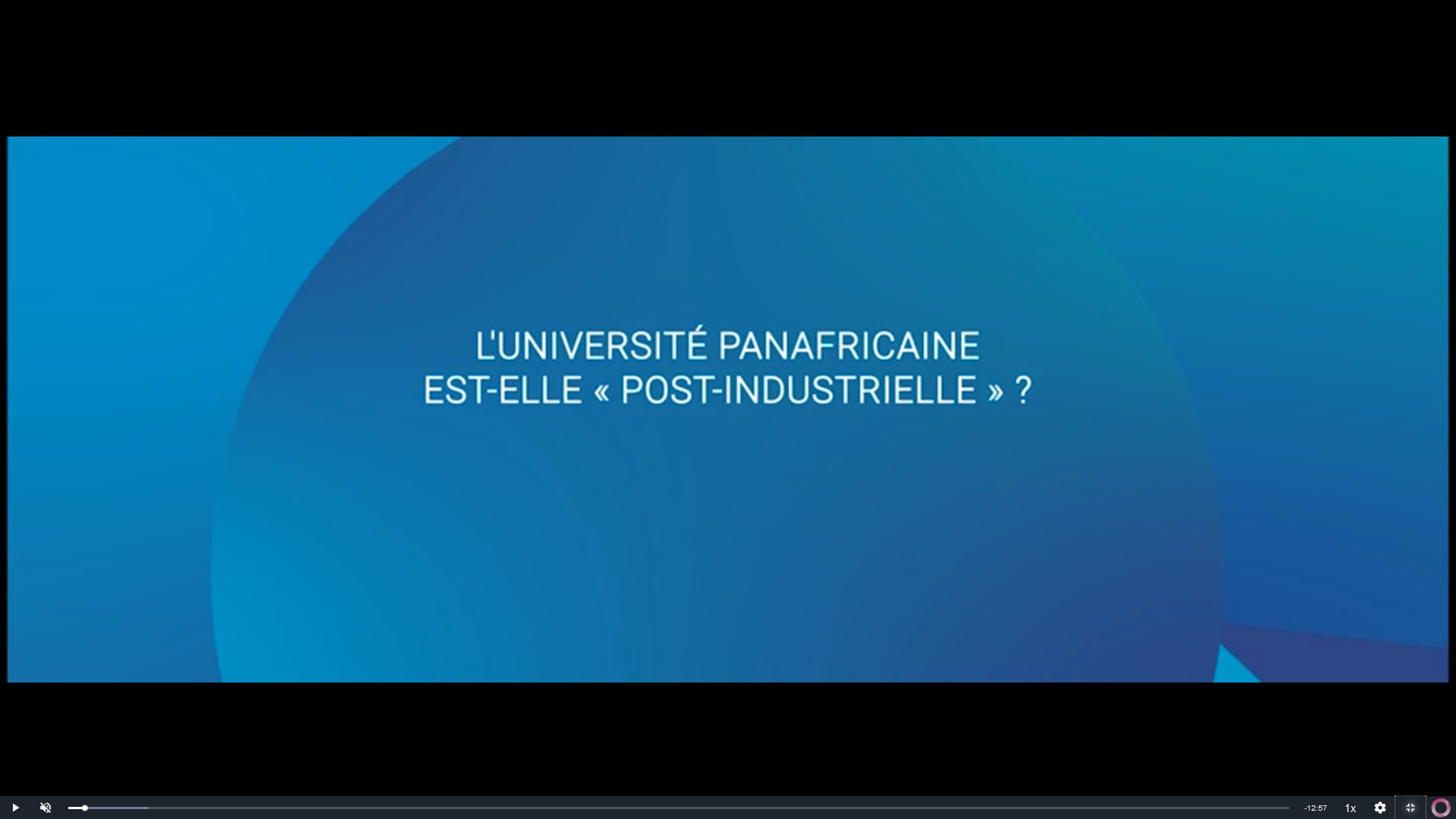 L'Université Panafricaine est-elle « post-industrielle » ?